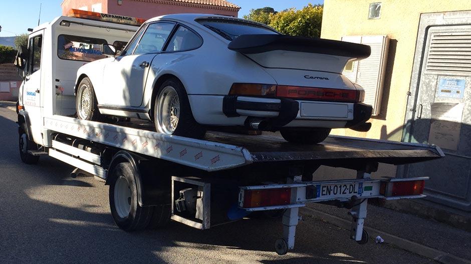 Transport de véhicule Porsche Carrera