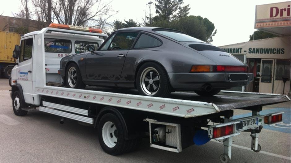 Transport de voiture Porsche